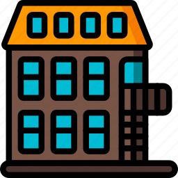 complex, holiday, hotel, travel, vacation, vacations icon