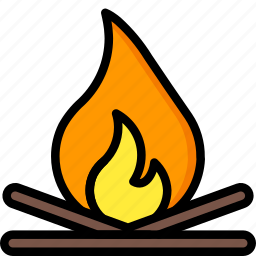 camp, camping, fire, holiday, travel, vacation, vacations icon