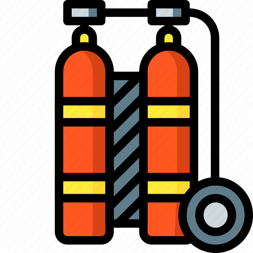 diving, holiday, scuba, tanks, travel, vacation, vacations icon