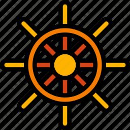 boat, holiday, ships, travel, vacation, vacations, wheel icon