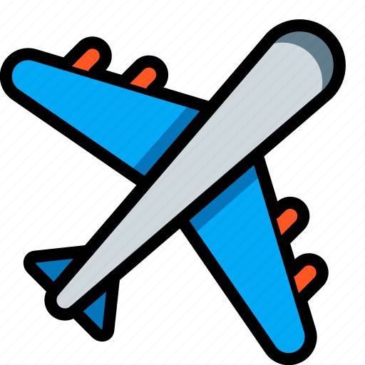 aeroplane, fly, holiday, plane, travel, vacation, vacations icon