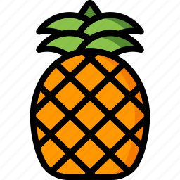 exotic, fruit, holiday, pineapple, travel, vacation, vacations icon
