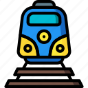 holiday, train, transport, travel, vacation, vacations icon