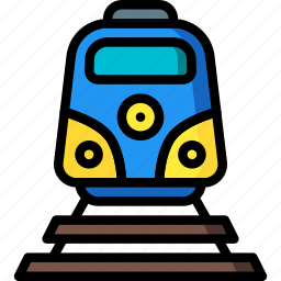 holiday, train, transport, travel, vacation, vacations icon