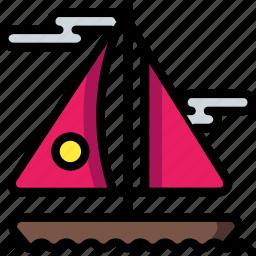 boat, holiday, sailing, travel, vacation, vacations, yacht icon