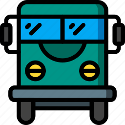 bus, coach, holiday, transport, travel, vacation, vacations icon