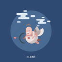 angel, arrow, bow, cloud, cupid icon
