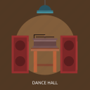 dance hall, media player, music, speaker icon