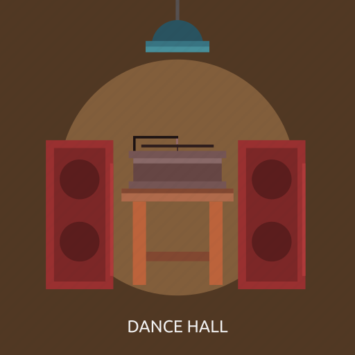 dance hall, media player, music, speaker icon