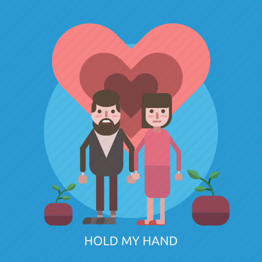 female, hold my hand, love, male, man, sprout, woman icon