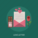 flower, love, love letter, message icon