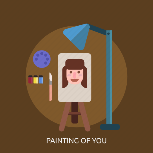 color, drawing, face, painting of you icon