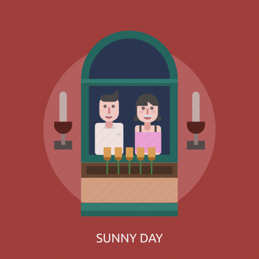 candle, female, male, sunny day icon