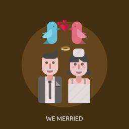 bird, female, love, male, we maried icon