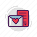 envelope, letter, love, valentine icon