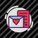 envelope, letter, love, valentine