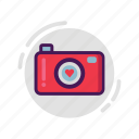 camera, love, photography, valentine icon