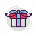 birthday, box, gift, ribbon, valentine icon