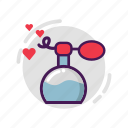 heart, love, parfume, valentine icon