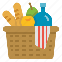 activity, basket, family, outdoor, picnic icon
