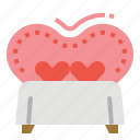 heart, love, romance, valentine, wedding icon