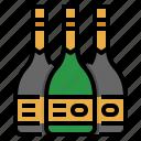 alcohol, bottle, champagne, dinner, wine