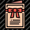 card, invitation, love, rsvp, wedding icon
