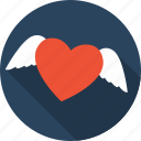 angel, favorite, favourite, heart, love, romance, valentine icon