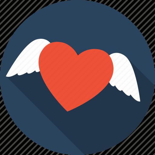 angel, favorite, favourite, heart, love, romance, valentine icon