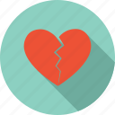 broken, heart, love sick, sad, valentine icon