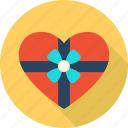 box, favorite, gift, heart, love, romantic, valentine icon