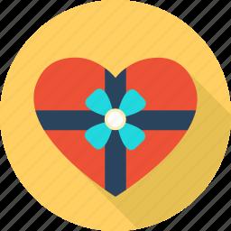 box, favorite, gift, heart, love, romantic, valentine icon