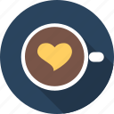 capuchino, coffe, favourite, heart, love, romance, valentine icon