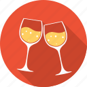 drink, heart, love, romantic, valentine, valentines, wine icon