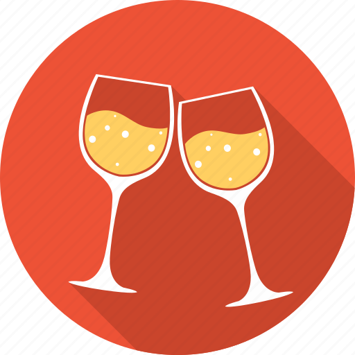 drink, heart, love, romantic, valentine, valentines, wine icon