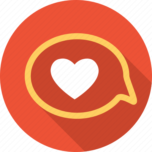 chat, heart, letter, love, message, romantic, valentine icon