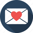 chat, email, heart, love, message, romantic, valentine icon