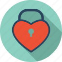 favorite, heart, locked, love, romantic, valentine icon