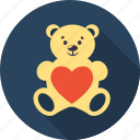 bear, favourite, heart, love, romantic, valentine, valentines icon