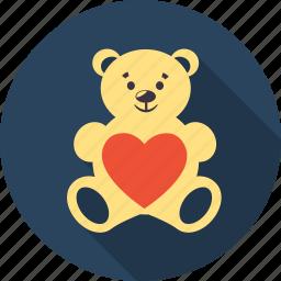 bear, favourite, heart, love, romantic, valentine, valentines icon