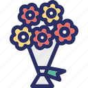 bouquet, flowers, flowers bouquet, gift icon