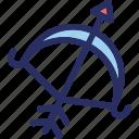 archery, arrow, bow, cupid bow, heart arrows icon