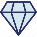 diamond, gem, gemstone, jewel, precious stone icon