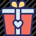 celebrations, giftbox, loving gift, party, present icon