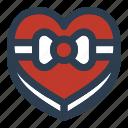 chocolate, gift, love, valentine, valentineday icon