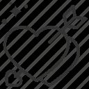 arrow, heart, love, valentine, with icon