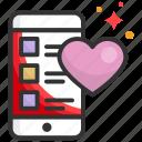 app, dating, heart, mobile, phone
