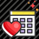 calendar, date, dating, heart, planning