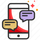 app, chat, like, message, mobile icon