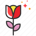 valentine, love, dating, giving, rose icon